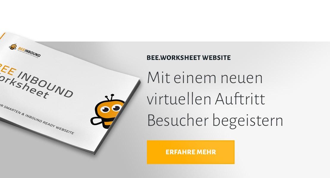 BEE.Worksheet Website anfordern