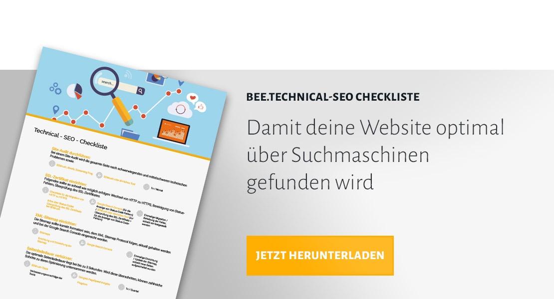 BEE.Technical-SEO Checkliste herunterladen